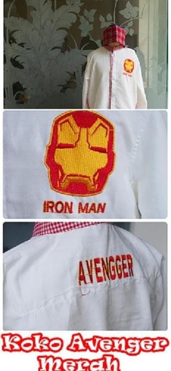 Baju koko sarung anak SD size XXL (11-12 thn) karakter CARS MERAH