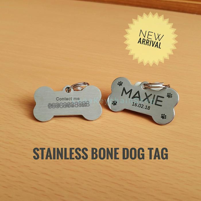 harga Dog tag / name tag stainless 2 sisi -bone shape- Tokopedia.com