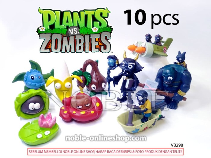 harga Plants vs zombies figure seri 7-game zombi-monster-zombie-toys-vb298 Tokopedia.com