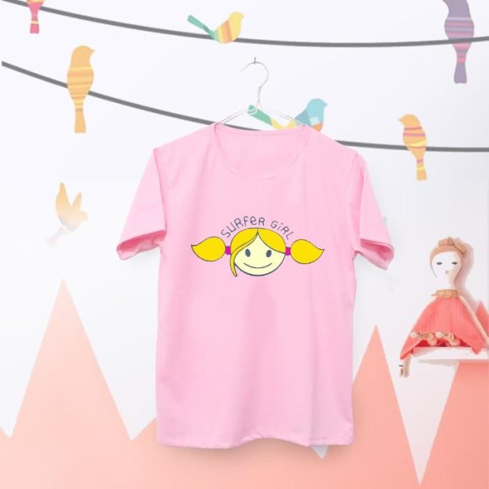 harga Tumblr tee / t-shirt / kaos wanita lengan pendek surfer girl pink Tokopedia.com
