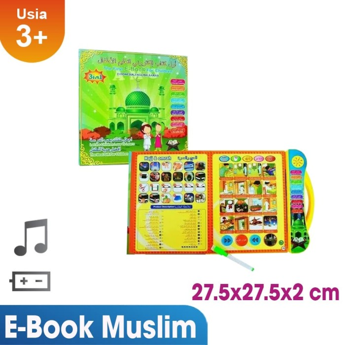 termurah!! ebook e-book muslim 3 bahasa mainan anak muslim terkini