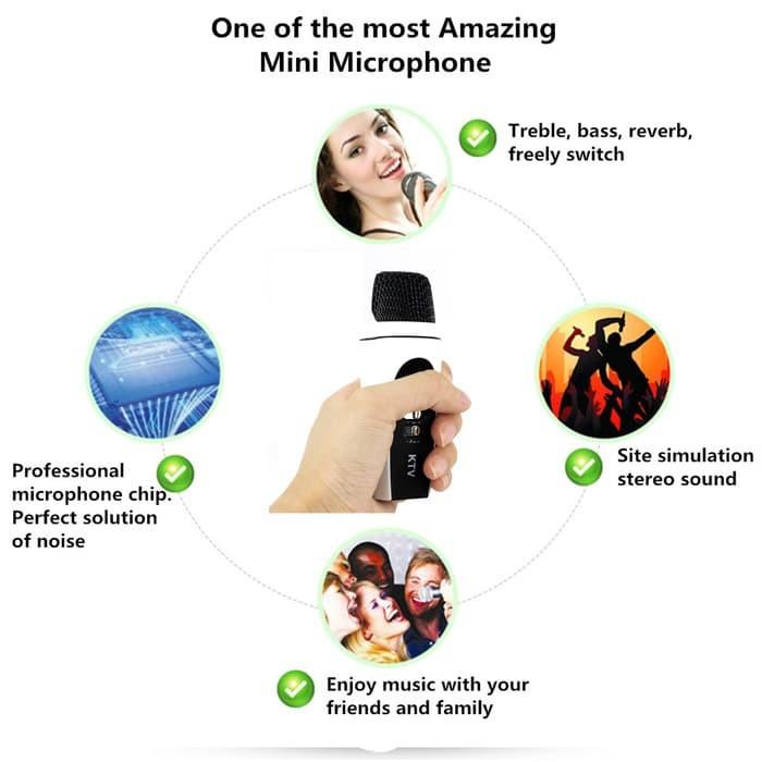 harga 3.5mm mini sing karaoke microphone mic handphone hp pc laptop tablet Tokopedia.com