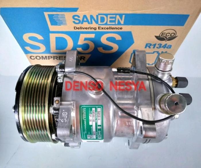 Jual Compresor Kompresor AC Mobil SD508/ SD5H14 - Puli PK - SANDEN ASLI -  Kota Probolinggo - Samudra AC | Tokopedia