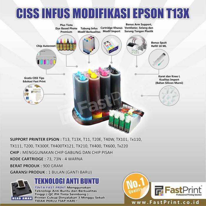 harga Fast print ciss infus modifikasi epson t13x plus tinta Tokopedia.com