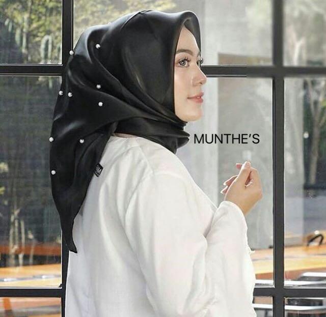 Hijab jilbab organza silk tunik mutiara organza pearl
