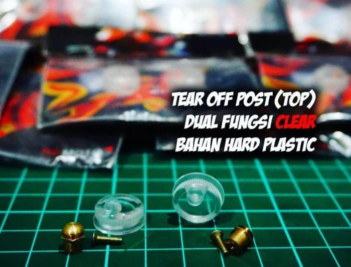 Foto Produk Tear Off Post (TOP) Clear Dual Fungsi pnp semua visor flat. dari Teras Digital