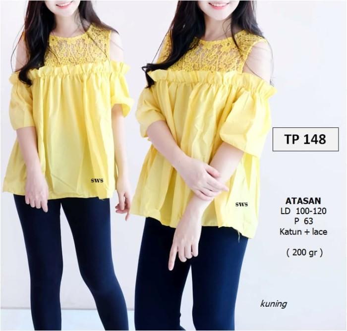 harga Setp148 baju atasan wanita sabrina cutton lace lucu murah import korea Tokopedia.com