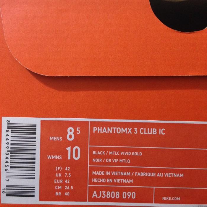 c1bb1c165 Jual Sepatu Futsal Nike Phantom X 3 Club IC Black Gold AJ3808-090 ...