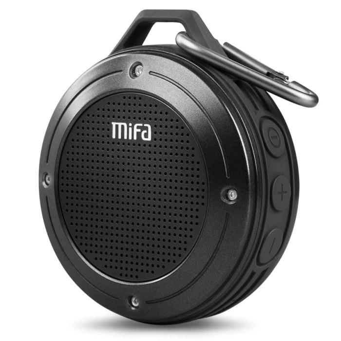 harga Mifa waterproof bluetooth speaker with carabiner - f10 - black Tokopedia.com