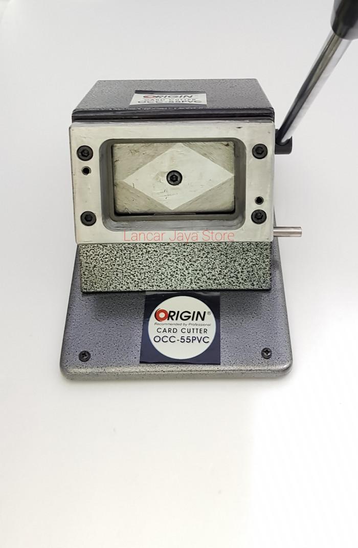 Foto Produk Alat Mesin Plong ID Card / Mesin PVC Card Origin OCC-55 PVC (Abu) dari Lancar Jaya Store