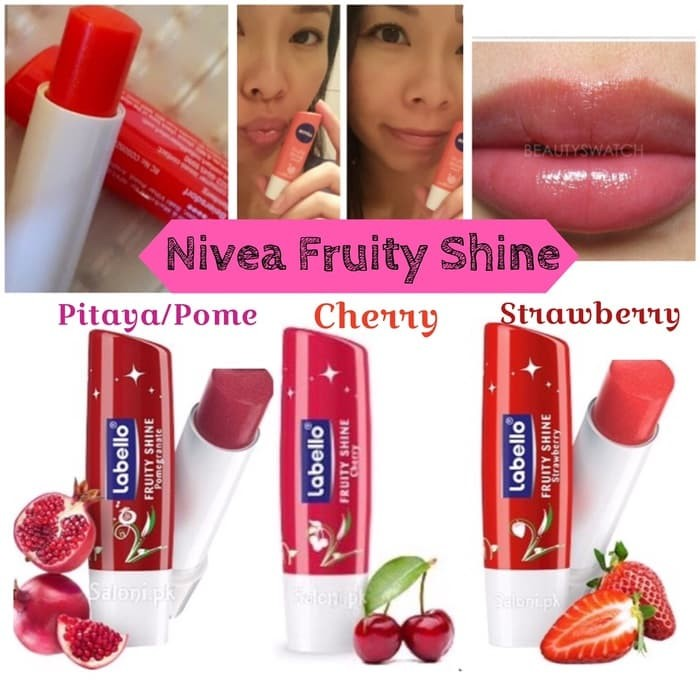 Info Lip Balm Nivea Fruity Shine Travelbon.com