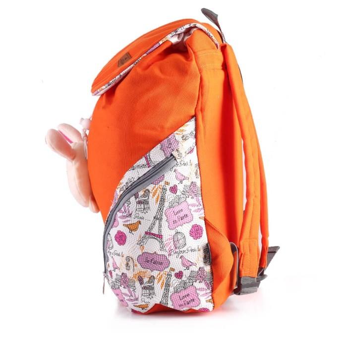 Tas Ransel / Backpack Anak Perempuan canvas orange Inficlo SRU 719 ori