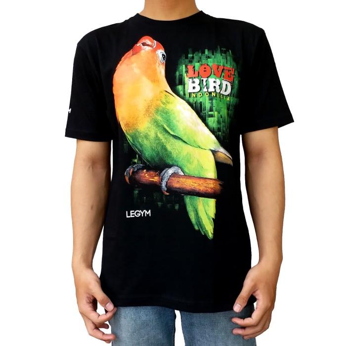 harga Legy'm kaos burung lovebird 02 hitam - termurah Tokopedia.com