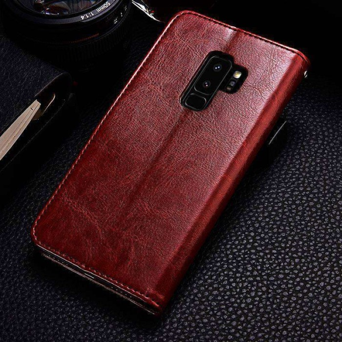 Foto Produk CASING SAMSUNG GALAXY S9 PLUS LEATHER CASE FLIP COVER WALLET KULIT - SAMSUNG S9, Hitam dari arterycircle