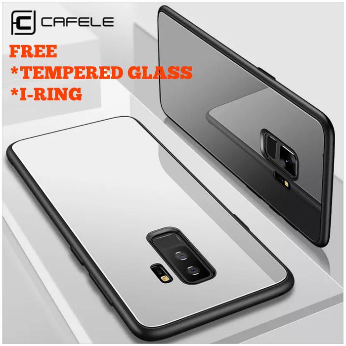 CAFELE CASE SAMSUNG S9 S9+ PLUS LUXURY TOUGHENED BACK GLASS ORIGINAL - Putih
