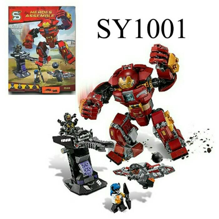 harga The hulkbuster ironman sy 1001 lego infinity war super hero avengers Tokopedia.com