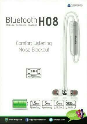 harga Headset bluetooth hippo h-08 Tokopedia.com