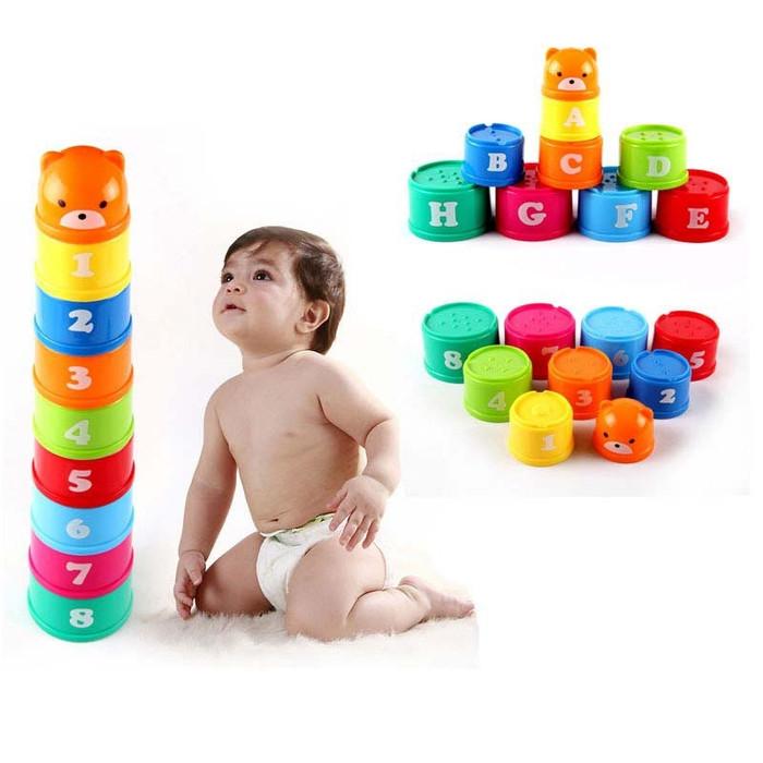 harga Mainan edukasi dan stimulasi bayi dan anak gelas susun Tokopedia.com