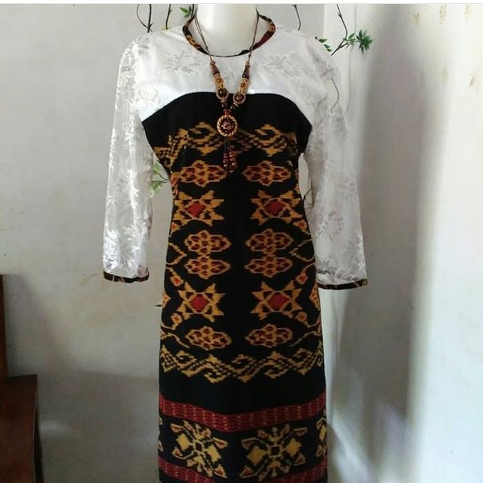 Jual Dress Tenun Rote Kombinasi Brokat Kab Jepara Baju Tenun Tokopedia