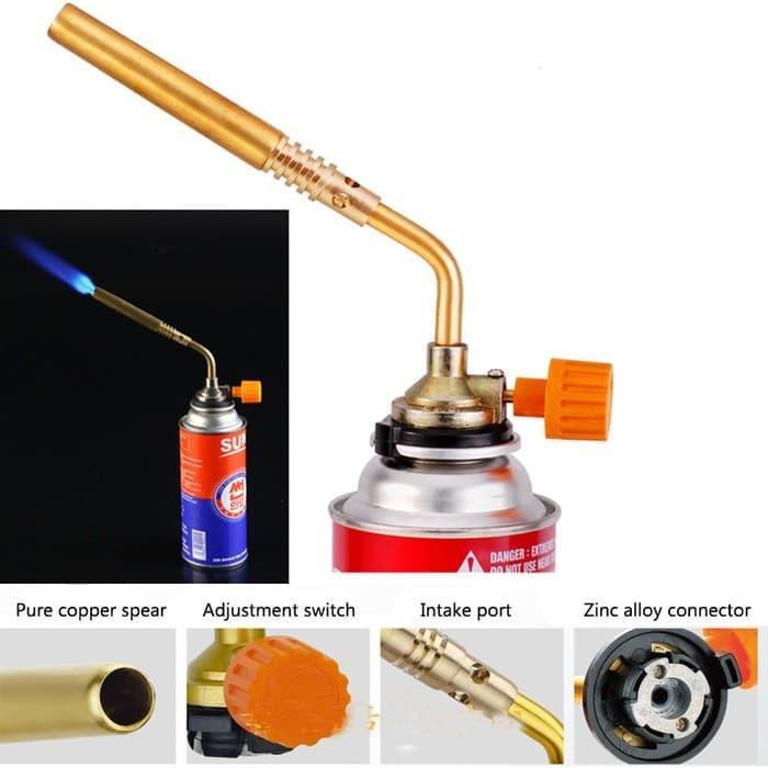 harga Kepala las gas portable burner flame torch masak bengkel full tembaga Tokopedia.com