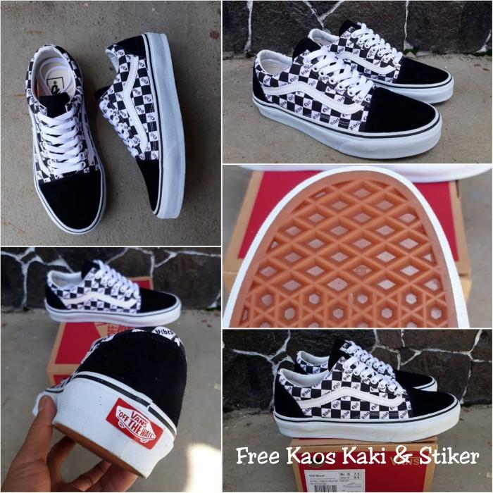 e2e6691c496 Sepatu Vans Old Skool Chill Vibes Black White Premium Quality BNIB - Hitam