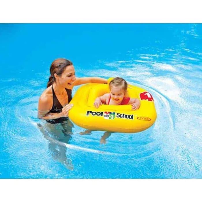 Intex deluxe baby float pool school. ban pelampung renang batita duduk