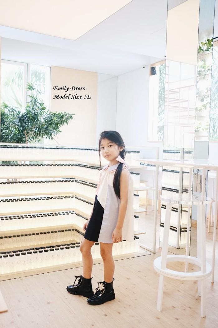 emily dress mosfit baju dress anak perempuan - 3 years