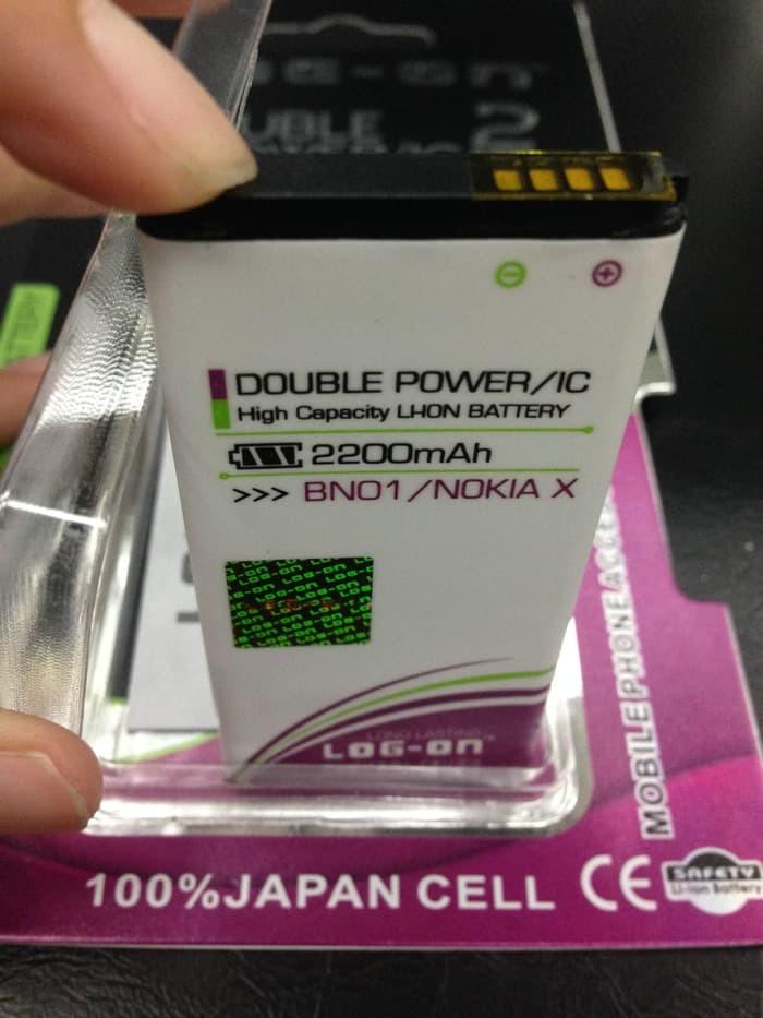 Batere Baterai Battery BYD BN-01 Nokia X 2200Mah Double Power Log On