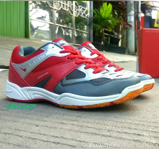 Sepatu Badminton eagle Original Eagle art sparrow - Merah, 41