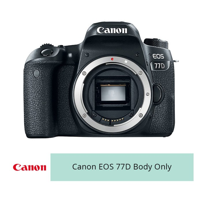 harga Canon digital camera eos 77d body only wifi - hitam Tokopedia.com