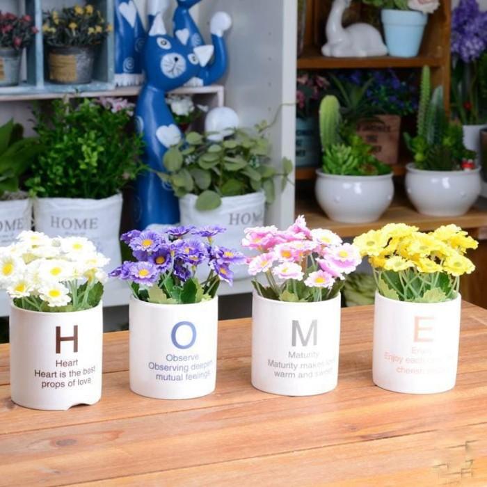 harga Home set flower / bunga pajangan / bunga dekorasi Tokopedia.com