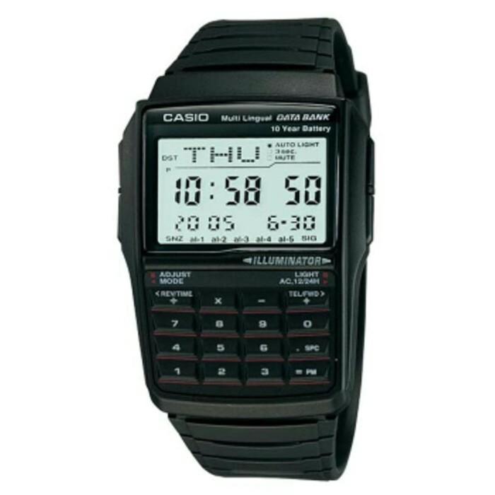 harga Jam tangan casio dbc32-1 kalkulator hitam strap karet digital terlaris Tokopedia.com