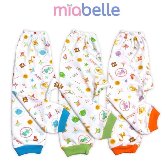 Miabelle celana panjang fullprint set 3pcs - m - 6-12bulan