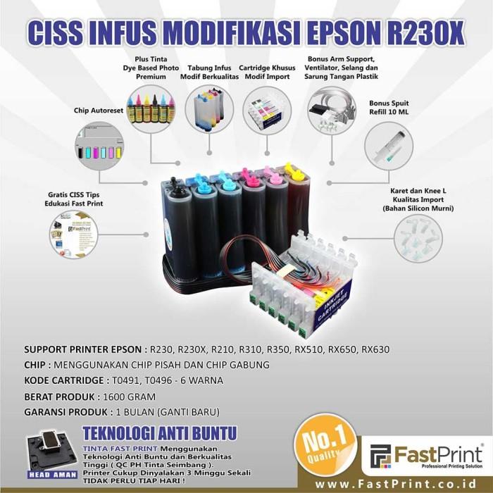 harga Fast print ciss infus modifikasi epson r230 plus tinta Tokopedia.com