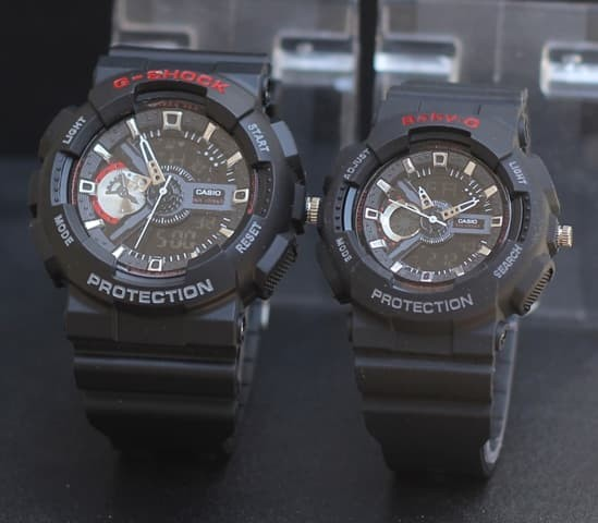 Jual JAM TANGAN G-SHOCK COUPLE GA110 BLACK LIST RED KW SUPER - Emgus ... 9c1f72327c