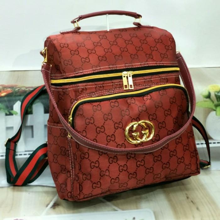 tas ransel wanita tas punggung backpack model GUCHEART harga termurah -  Merah 5d84d4e257