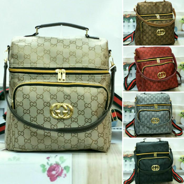 tas ransel wanita tas punggung backpack model GUCHEART harga termurah -  Hitam d5f21d6c29
