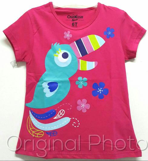 harga Kaos anak size 1-6 oshkosh burung pink fanta |kaos karakter anak cewek Tokopedia.com