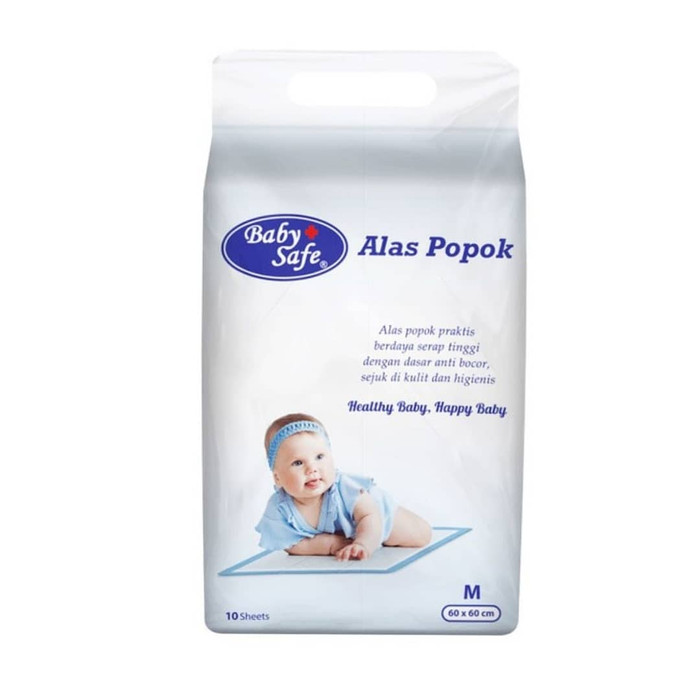 harga Baby Safe Underpad 10 Pcs / Alas Ganti Popok / Alas Ompol Sekali Pakai Blanja.com