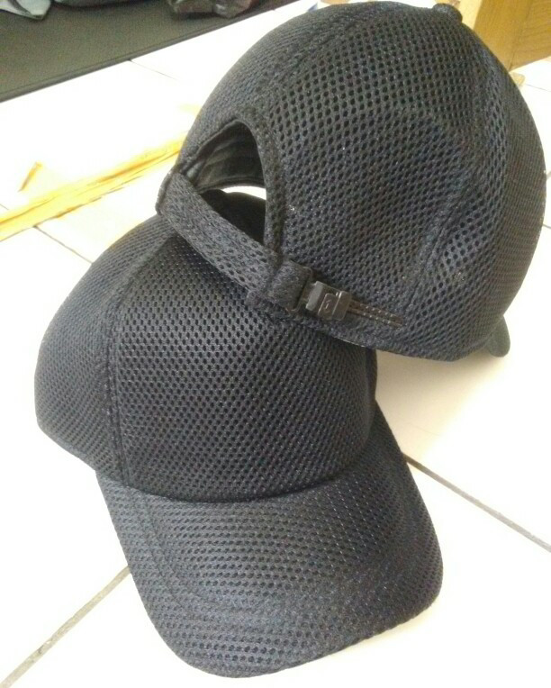 Jual topi hitam polos jaring jala cek harga di PriceArea.com c9e6fb647f