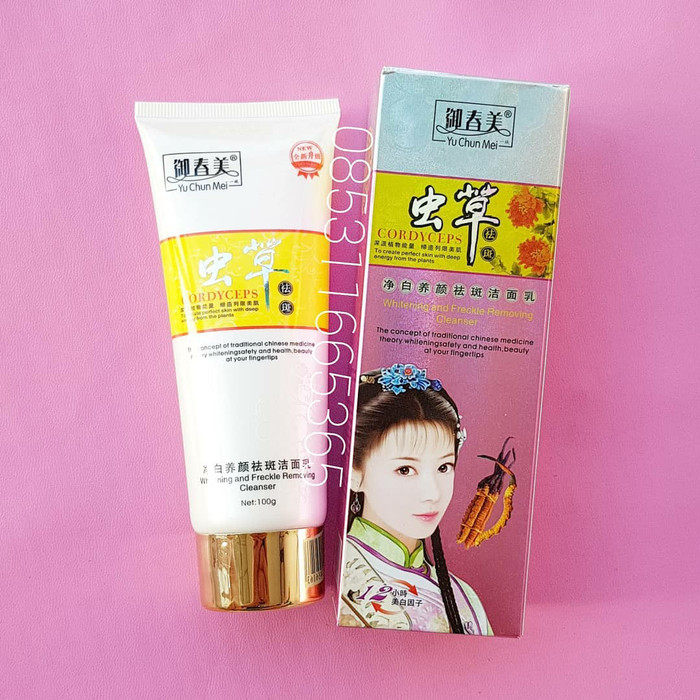 Jual SABUN WAJAH CORDYCEPS FACIAL HERBAL WHITENING FOAM YU CHUN Source · Sabun YCM CORDYCEPS FACIAL HERBAL WHITENING FOAM YU CHUN MEI