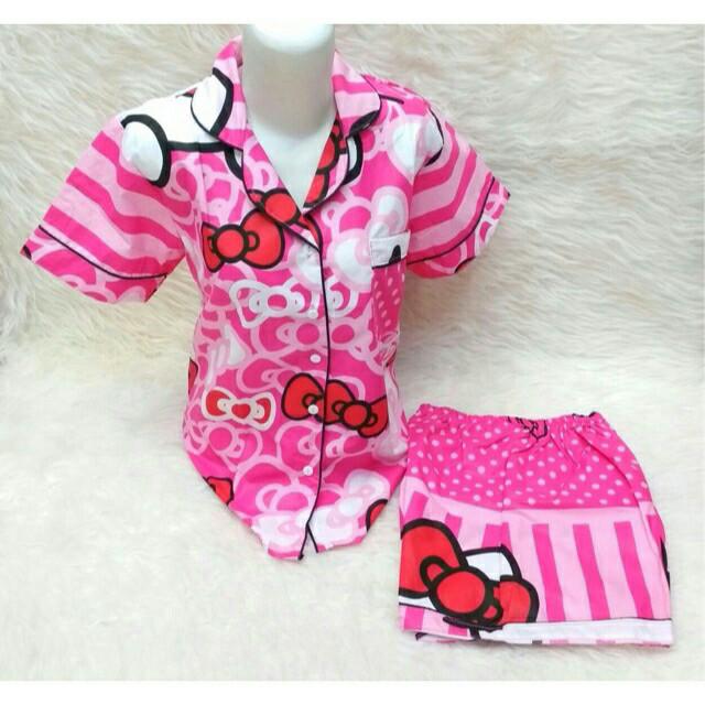 harga Sale....set piyama wanita - pajamas- baju tidur hellokitty pita bsr hp Tokopedia.com