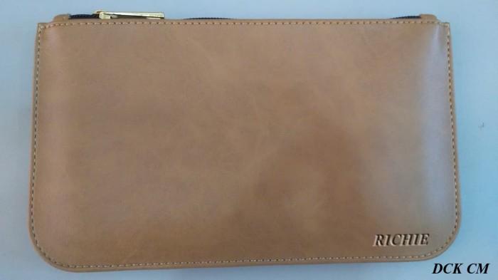 Dompet wanita cewek hp uang kulit coklat muda by richie ... c709393b2b