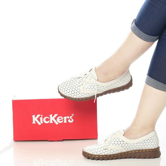 Harga Sepatu Wanita Flat Shoes Sol Lentur Kickers Kw Bagus Murah Tokopedia