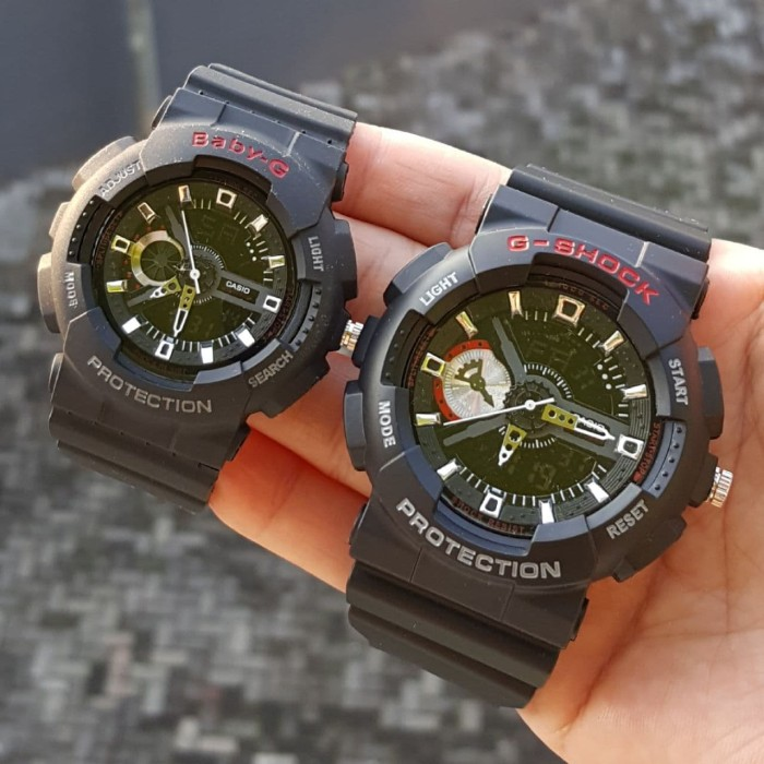 Jual JAM TANGAN COUPLE G-SHOCK GA110 BLACK LIST RED - Najla Watch ... fa39f686f9
