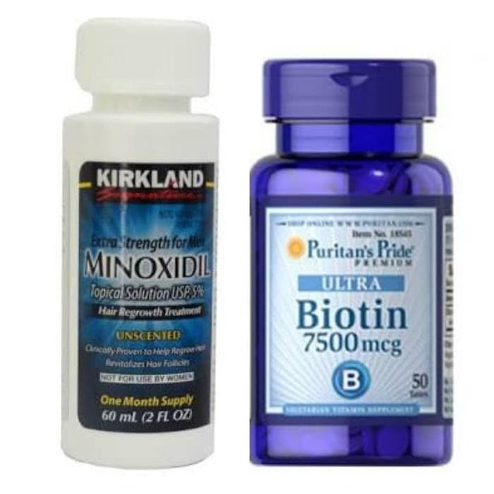 harga Kirkland minoxidil 5% 1 month & puritan 7500 isi 50 tablet ready stock Tokopedia.com
