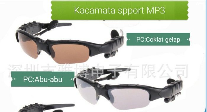 ... harga Kacamata sport mp3 bluetooth sunglasses stereo music player sporty Tokopedia.com