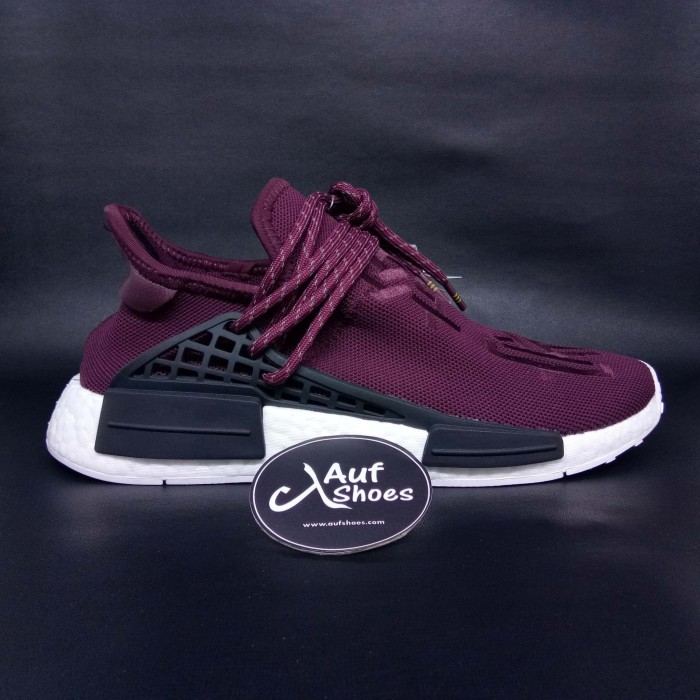 444a591a9 Adidas PW Human Race NMD Maroon White PHARRELL FRIENDS AND FAMILY - Maroon