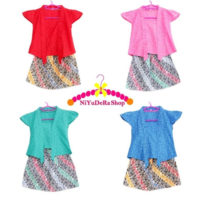harga [l-xl] kebaya anak kutu baru batik parang baju kartini kutubaru Tokopedia.com