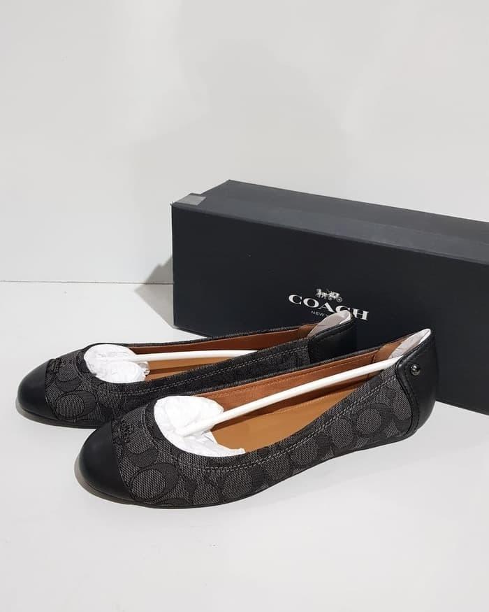 1a6d14486bb Jual Sepatu Flat Shoes Wanita Cewek Coach Shoes Authentic Original ...